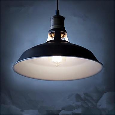 diameter 27cm vintage hänge ljus 1-ljus metall skugga vardagsrum matsal hall belysning