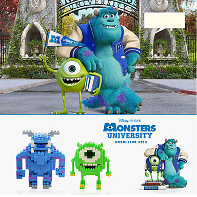 loz 2models / set byggstenar monster, inc. serie Mike • wozuosiji sullivan
