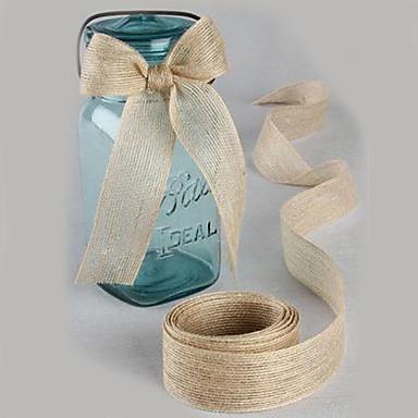 povoljno Artikli za zabave-Jedna barva Juta Vjenčanje Vrpce - 5M Komad / set Weaving Ribbon Mašnica za dar Ukrasite korist nositelja Ukrasite poklon kutija Ukrasite