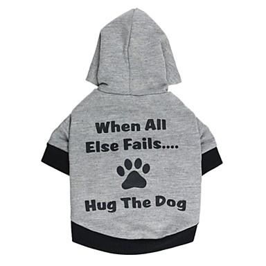 Katter / Hundar T-shirt / Huvtröjor Röd / Blå / Grå Hundkläder Sommar Bokstav & Nummer Bröllop / Cosplay