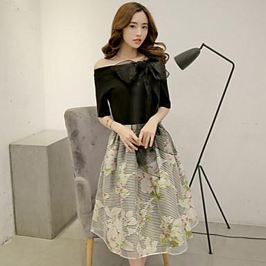 εκτύπωσης μαύρο φόρεμα των γυναικών d9ba6a64569
