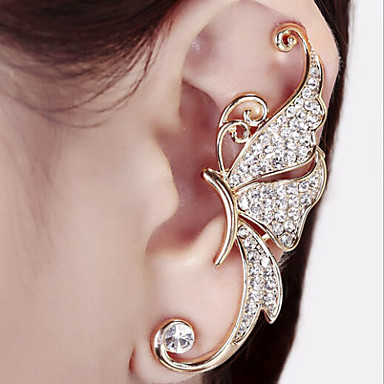 cheap Jewelry & Watches-Women's Synthetic Diamond Ear Cuff Climber Earrings Ladies Birthstones Earrings Jewelry White / Purple For Wedding Party Daily Casual