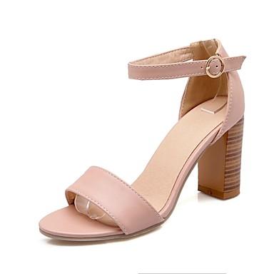 Γυναικεία παπούτσια - Πέδιλα - Φόρεμα - Χοντρό Τακούνι - Ανοιχτή Μύτη    Λουράκι στον Αστράγαλο - Δερματίνη - Μαύρο   Ροζ   Άσπρο 3310771 2019 –   29.99 d16c2342c05