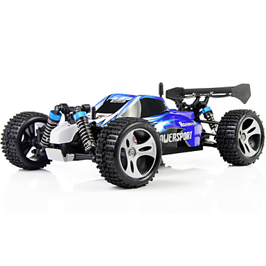 RC Car WLtoys A959 2.4G Buggy (Off-road) / Drift Car / High Speed 1:18 50 km/h Remote Control / RC / Rechargeable / Electric