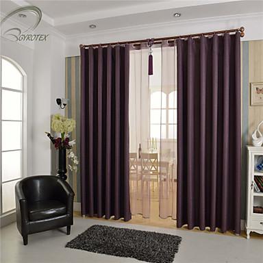 land curtains® en panel purpurfärgad fast substans mörkläggningsgardin