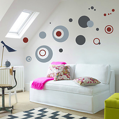 captivating living room wall art stickers | Circle Wall Decals High Quality Wall Arts Home Decor ...