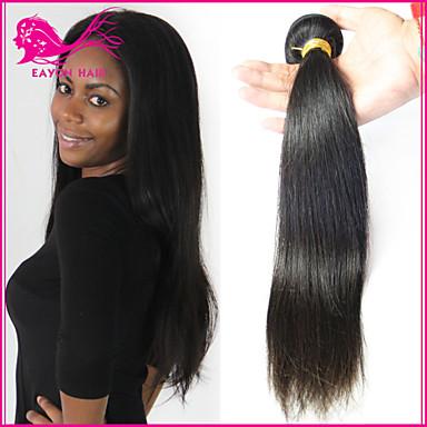 povoljno Ekstenzije od ljudske kose-3 paketa Brazilska kosa Ravan kroj Klasika Virgin kosa Crna Isprepliće ljudske kose Proširenja ljudske kose / 10A