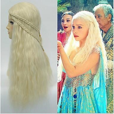 2015 cosplay peruker från Daenerys Targaryen drake prinsessa Game of  Thrones flätor kostym peruk 3269100 2019 –  25.00 dff8057ab43f2