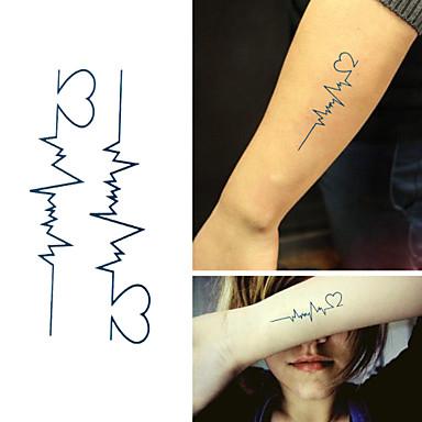 299 6 Pcs Tatuaże Tymczasowe Wodoodporny Nietoksyczne Papier Naklejki Z Tatuażem Wzór Dolna Część Pleców
