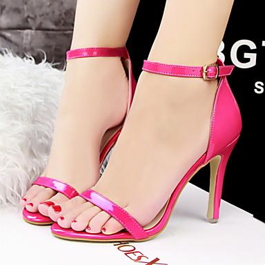 Shoes For Women Stiletto Heel Heels Peep Toe Open Toe Sandals Casual Black Silver