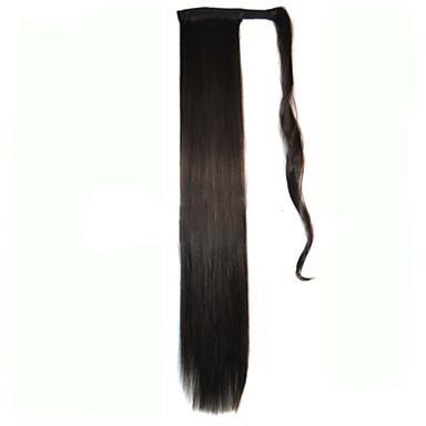 Hårförlängning med mikroring Andra Syntetiskt hår Hårstycke HÅRFÖRLÄNGNING Rak 1.8 Meter Halloween / Fest / Kväll