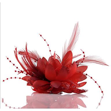 billiga Huvudsmycken till fest-Chiffong / Oäkta pärla / Spets fascinators / Blommor / Huvudbonad med Blomma 1st Bröllop / Speciellt Tillfälle / Casual Hårbonad