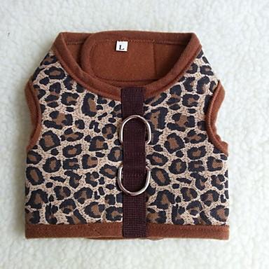 Katt Hund T-shirt Väst Hundkläder Leopard Kamoflagefärg Leopard Terylen Kostym Till Vår & Höst Herr Dam