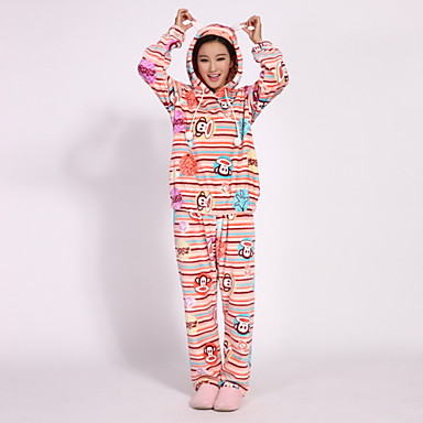0a5870fba58 Autumn Winter Coral Fleece Thickening Long-Sleeved Ms Cartoon Cute Pajamas  Leisurewear Suit 3597151 2019 –  32.03