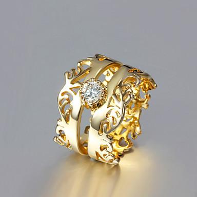 Prstýnky Svatební   Párty   Denní   Ležérní Šperky Pozlacené Prsteny s  kamenem 1ks a6c8dc12ce