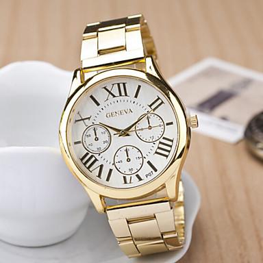 povoljno Ženski satovi-Žene Ručni satovi s mehanizmom za navijanje Kvarc Nehrđajući čelik Zlatna Casual sat Analog dame Šarm Moda