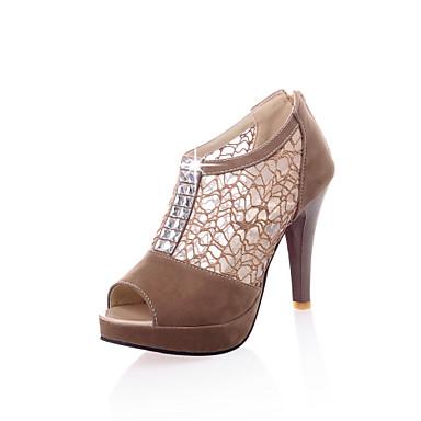 Zapatos marrones Tacón cono oficinas para mujer kiYlWszl1r