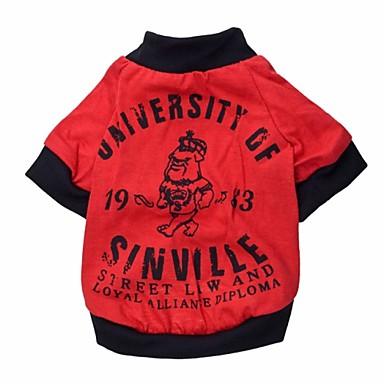 Katt / Hund T-shirt Hundkläder Figur / Bokstav & Nummer Cotton Kostym För husdjur Sommar Cosplay