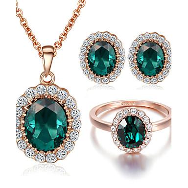 Dámské Křišťál Syntetický smaragd Šperky Set Křišťál 559a2dc8d0c