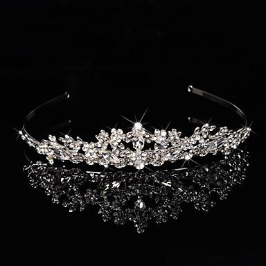 povoljno Party pokrivala za glavu-Žene Prodavačica cvijeća Sterling srebro Legura Glava-Vjenčanje Special Occasion Trake za kosu Cvijeće Koszorúk 1 komad