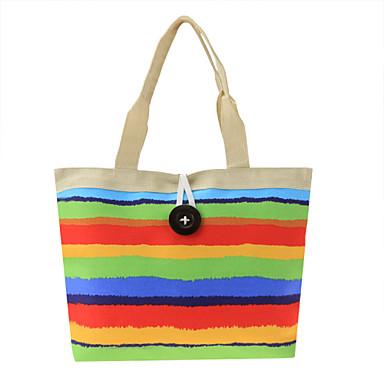 Women s Multicolor Striped Canvas One Button Decoration Cool Personality  Shoulder Bag Handbags 3604408 2019 –  6.99 b4ecf6ff04