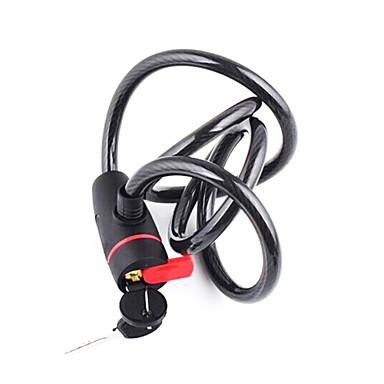 billige Sykkeltilbehør-Kabbellås til sykkel Self Coiling Tilbakestillbar kombinasjon Multipurpose Verneutstyr Til Vei Sykkel Fjellsykkel BMX Sykkel med fast gir Sykling PVC Syntetisk Stål Svart