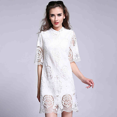 Women\'s Short Sleeve Lace Fashion Nightclub Slim Fit Plus Size Dress ...