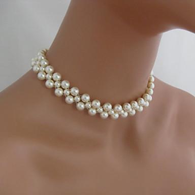 92c4121d0a49 Mujer Gargantillas Strands Collares Collar con perlas Perla Moda Estilo  Simple Con Cuentas Hecho a mano Joyas Para Fiesta Diario Casual 3571217  2019 –  7.34
