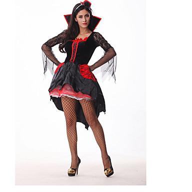Vampyr Cosplay Kostymer / Dräkter Dam Halloween Festival / högtid Spandex Lycra Svart / Blå Dam Karnival Kostymer