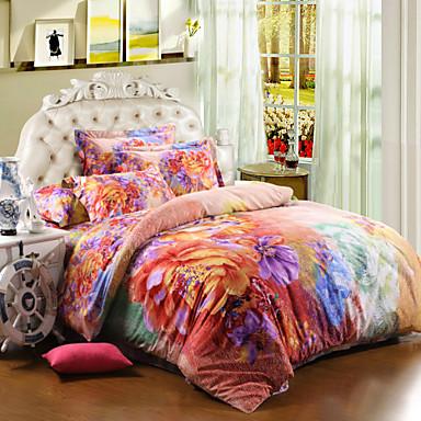 02ea42e9 elegant blomst jenter sengetøy satt 100% bomull 4stk blomstermønster dyne  dynetrekk laken sengetøy hjemme tekstil 3677927 2019 – $87.99