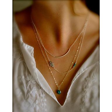 povoljno Modne ogrlice-Žene slojeviti Ogrlice Zlo oko jeftino dame Moda Legura zaslon u boji Ogrlice Jewelry Za