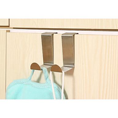 10pcs acero inoxidable ganchos puerta ganchos para bolsas ganchos para colgar ropa 3541221 2019 ...