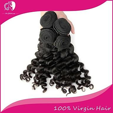povoljno Ekstenzije od ljudske kose-3 paketa Brazilska kosa Water Wave Ljudske kose plete 8-22 inch Crna Isprepliće ljudske kose Proširenja ljudske kose / 8A / Vodeni valovi