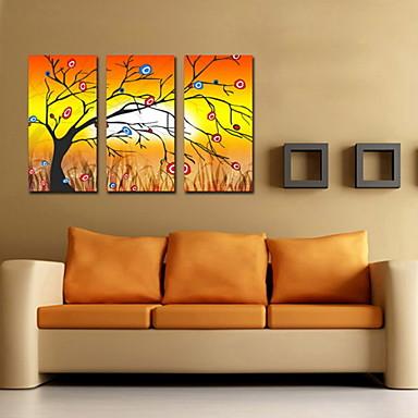 lienzos pintados para decoración abstracta pintura al óleo del árbol ...