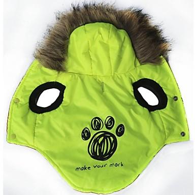 Katt Hund Kappor Huvtröjor Hundkläder Mode Bokstav & Nummer Grön Kostym För husdjur