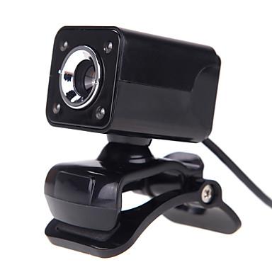 4led usb 2.0 12 m hd kamera webbkamera med mikrofon clip-on mörkerseende 360 graders för stationära skype dator PC laptop