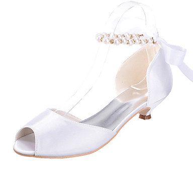 Womens Shoes Silk Low Heel Peep Toe Sandals Wedding Party Evening More Colors Available 3587539 2018 3324