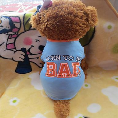 Hund T-shirt Hundkläder Blå-Gul Kostym Cotton M