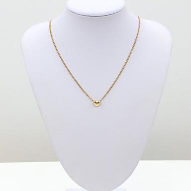levne Dámské šperky-Dámské Křišťál Řetízky dámy Evropský Módní Pozlaceno 18k Žluté zlato Umělé diamanty Zlatá Náhrdelníky Šperky Pro / Rakouský křišťál