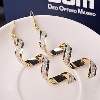preiswerte Ohrringe-Damen Tropfen-Ohrringe Hängende Ohrringe Welle Billig damas Modisch Elegant Alltäglich Ohrringe Schmuck Schwarz / Golden / Silber Für Hochzeit Party Alltag Normal