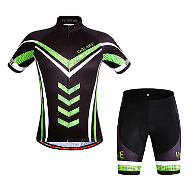 Andningsfunktion/Snabb tork/Vindtät/wicking - Kort ärm - Kostymer ( Svart ) - till Fiske/Leisure Sports/Cykling - Unisex