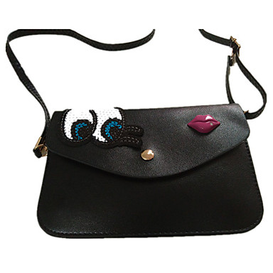 Women 's New Popular Korean Style Cute Big Eyes Mini PU Sling Bag ...