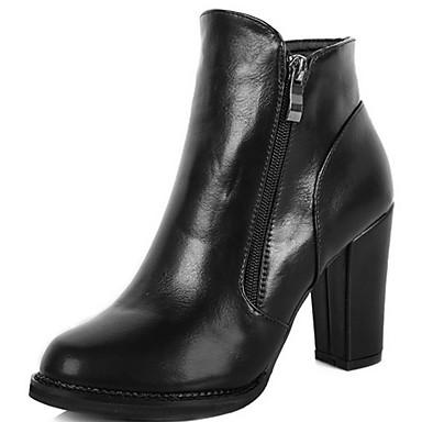 b9340fe407 Calçados Femininos - Botas - Coturno   Botas Cano Curto   Arrendondado -  Salto Grosso - Preto - Couro Sintético - Casual de 3981481 2019 por  29.99