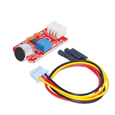 levne Elektrické vybavení-zvukový senzor (červená), 1 otvor bílá terminál s 3pin DuPont drátem