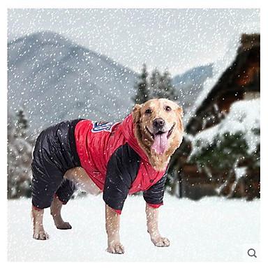 Hund Kappor Jakke Vinter Hundkläder Orange Gul Röd Kostym Spädbarn Liten hund Cotton S M L XL / Stor hund