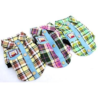 Hund T-shirt 셔츠 Hundkläder Purpur Gul Grön Kostym Cotton Jeans XS S M L XL XXL
