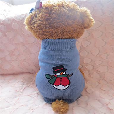 Hund Tröjor Hundkläder Grå / Röd Blandat Material Kostym Till Vinter