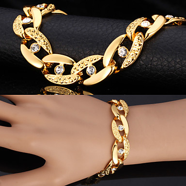 voordelige Herensieraden-Heren Synthetische Diamant Armbanden met ketting en sluiting Vintage Armbanden Figaro Ketting Chunky patiencespel Statement Dames Gepersonaliseerde Modieus Dubai Strass Armband sieraden Zilver