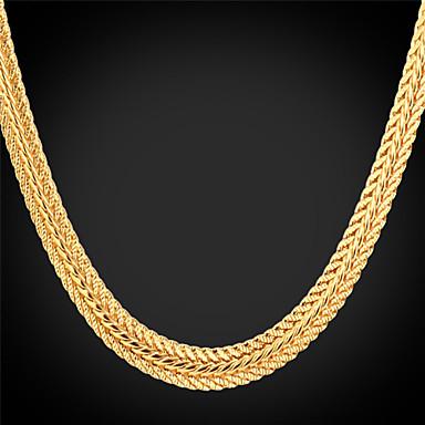 levne Dámské šperky-Dámské Obojkové náhrdelníky Řetízky Tlustý Foxtail řetězec Dookie řetězec dámy Módní Dubaj Pokovená platina Pozlacené Slitina Stříbrná Růžová Zlatá Náhrdelníky Šperky Pro Svatební Párty Denní Ležérní