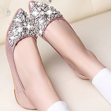 Women's Shoes Flat Heel Comfort/Closed Toe Flats Casual Pink/Silver/Gold  4021434 2018 – $13.99